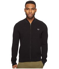 Fred Perry Bomber Neck Zip Thru Cardigan Black Men's Sweater