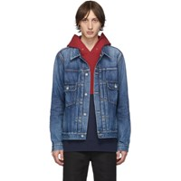 Visvim Indigo Damaged Denim Ss 101 Jacket