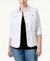 Charter Club Plus Size Denim Jacket Only At Macy's Bright White