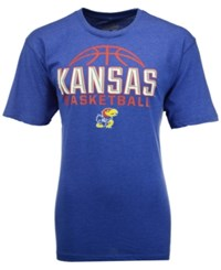 Colosseum Men's Kansas Jayhawks Basketball Dome T Shirt Royalblue