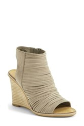 Hinge 'Turner' Open Toe Wedge Bootie Beige