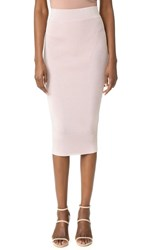 Cushnie Et Ochs Knit Pencil Skirt Metallic Shell