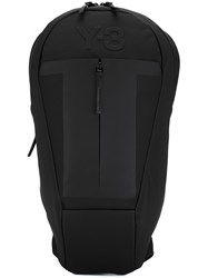 Y 3 Embossed Logo Backpack Black