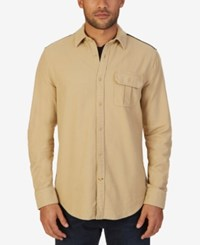 Nautica Men's Moleskin Shirt Sandy Bar