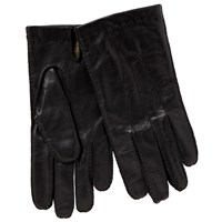 John Lewis Wool Lined Handsewn Leather Gloves Black