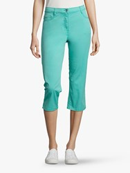 Betty Barclay Stretch Cotton Cropped Jeans Blue Turquoise