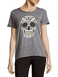 Chaser Skull Graphic Short Sleeve Tee Streaky Grey
