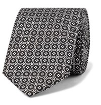 Dolce And Gabbana 6Cm Printed Silk Twill Tie Black