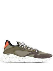 Moncler Lace Up Sneakers Green