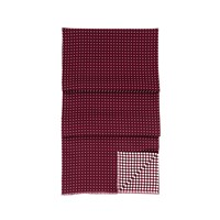 Aspinal Of London Mens Reversible Scarf Burgundy