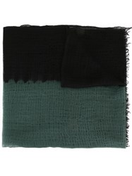 Suzusan Two Tone Cashmere Scarf Green