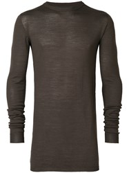 Rick Owens Classic Fitted Sweater Green