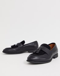 New Look Fringed Loafers In Black