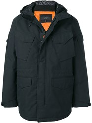 Rag And Bone Pocketed Parka Black
