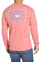 Southern Tide 'Skipjack' Long Sleeve Graphic T Shirt Shell Pink