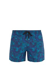 Danward Chrysanthemum Print Swim Shorts Navy Multi