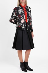 Paul Joe Women S Satin Cat Bomber Jacket Boutique1 Multi