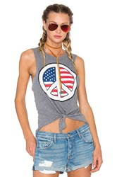 Chaser Peace Usa Tank Gray