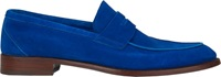 Isaia Apron Toe Penny Loafers Blue Size 8