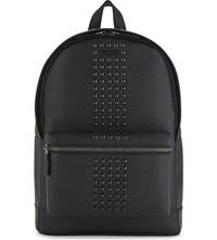 Michael Kors Bryant Studded Grained Leather Backpack Black