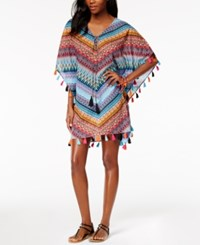 Miraclesuit Casbah Cotton Printed Tassel Caftan Cover Up Women's Swimsuit Multi