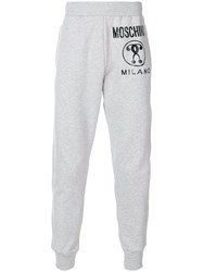 Moschino Logo Tracksuit Bottoms Grey