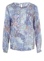 Basler Paisley Print T Shirt Multi Coloured