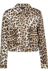Just Cavalli Leopard Print Denim Jacket Leopard Print