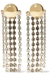 Beaufille Cobalt Fringed Gold Plated Crystal Earrings One Size