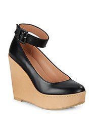 Robert Clergerie Leather Wedge Dress Shoes Black
