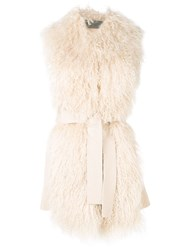 D.Exterior Belted Gilet Nude And Neutrals