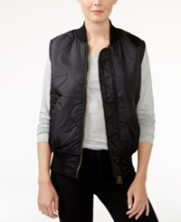 Rachel Roy Reversible Bomber Vest Only At Macy's Black