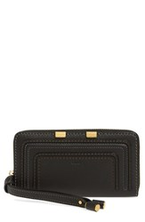 Chloe Women's 'Marcie' Leather Phone Wristlet Black