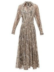 Norma Kamali Snake Print Jersey Wrap Dress Grey Print