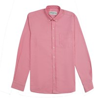 Karim Maher Button Down Cotton Oxford Shirt Pink Purple