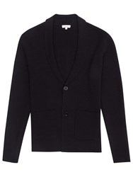 Reiss Lance Shawl Collar Cardigan Navy