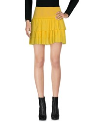 Richmond Denim Mini Skirts Yellow