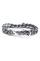Miansai Men's Hook And Rope Wrap Bracelet Steel