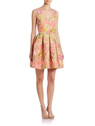 Trina Turk Garden Jacquard Fit And Flare Dress Multicolor
