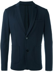 Paolo Pecora Patch Pockets Blazer Blue