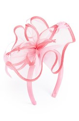 August Hat Feathered Floral Fascinator Headband Pink