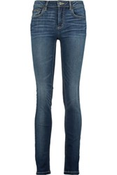 Marc By Marc Jacobs Lou Mid Rise Faded Skinny Jeans Mid Denim