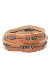 Men's Will Leather Goods 'Black' Wrap Bracelet Brown