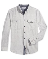 William Rast Men's Barrett Fleck Shirt Off White