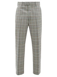 Alexander Mcqueen Tailored Checked Wool Slim Leg Trousers Grey Multi