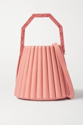 Louise Et Cie Alez Small Pleated Leather Bucket Bag Pink