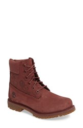 Timberland Women's 6 Inch Premium Embossed Waterproof Boot Sable Suede