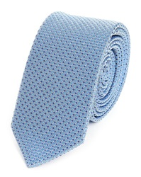 Melindagloss Blue Printed Silk Tie Made In France