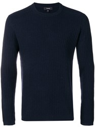 Theory Ribbed Sweater Blue