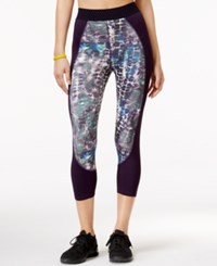 Jessica Simpson The Warm Up Juniors' Printed Cropped Leggings Only At Macy's Ocean Tie Dye